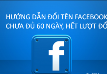 Đổi tên facebook cá nhân