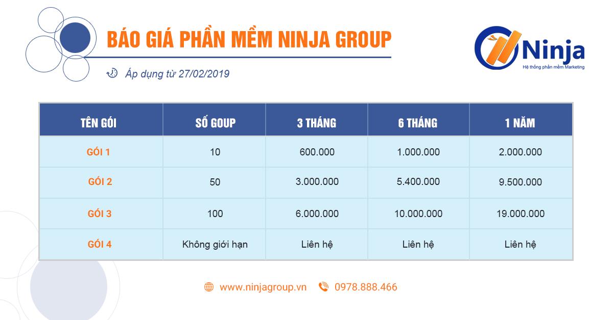 group facebook luong lon 4 Ninja Group   Phần mềm quản lý chăm sóc group facebook số lượng lớn