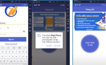 đăng nhập phần mềm ninja phone