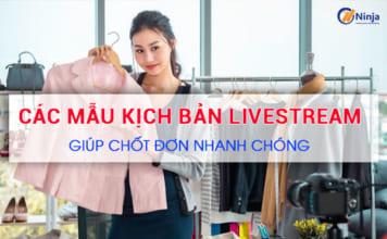 Mẫu kịch bản livestream quần áo giúp chốt đơn mỏi tay